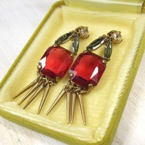 Vintage Crystal Rhinestone Retro Boho Earrings